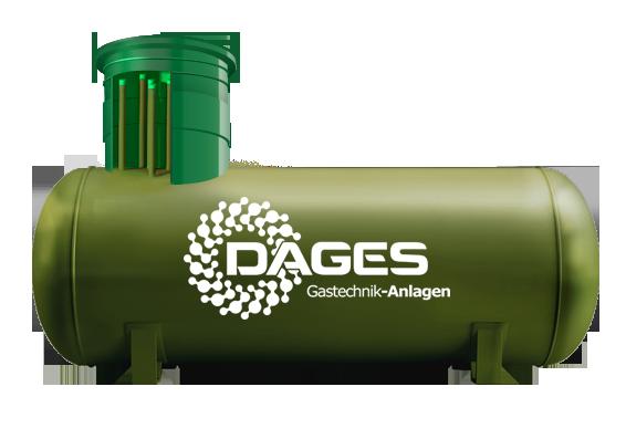 Автономная газификация на базе газгольдера Dages объемом 4 850 л