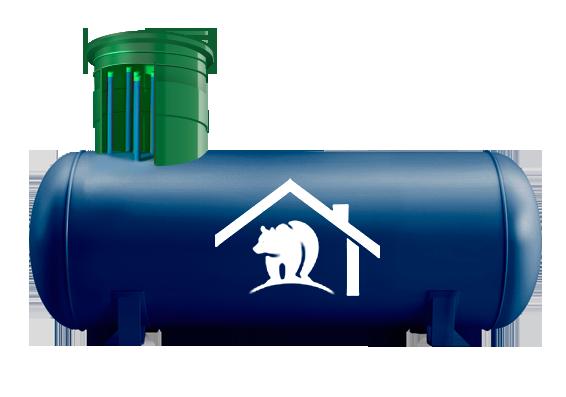 Автономная газификация на базе газгольдера Медведь объемом 5 700 л